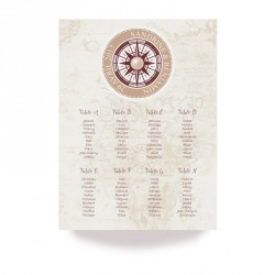 Table plan voyage pocket