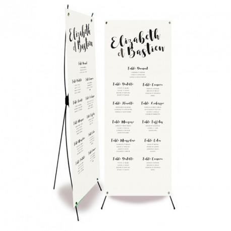 Plan de table mariage kraft pocket