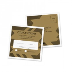 RSVP card art deco