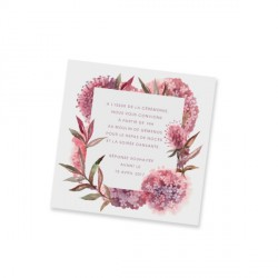 Dinner card champetre lace