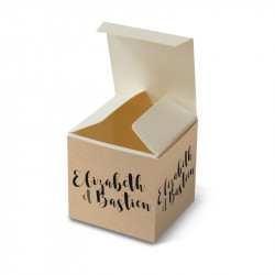 Wedding favour box craft pocket