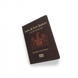Carton passeport billet d'avion
