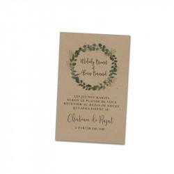 Carton d'invitation Eucalyptus