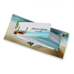 Wedding invitation Island holiday
