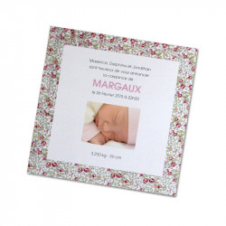 Birth announcement square liberty