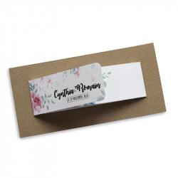 Faire part mariage fleurs wrap