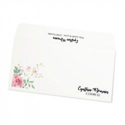 Enveloppe mariage fleurs wrap