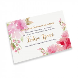 Acuarela flowers condolences cards