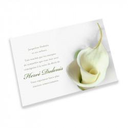 Monotype condolences cards