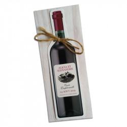 Faire part mariage bouteille de vin