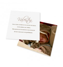 Birth thank you card scripto