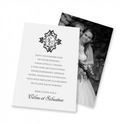 Remerciement classique corset baroque