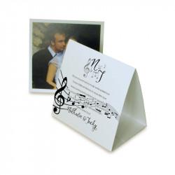 Remerciement mariage les notes de musique