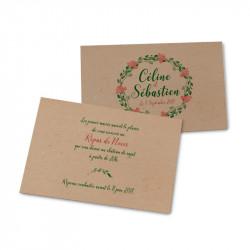 Carton d'invitation les fleurs des landes