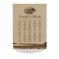Vigneto wedding table plan