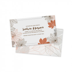 Dinner card autumn pocket