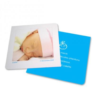 Birth thank you card angolo