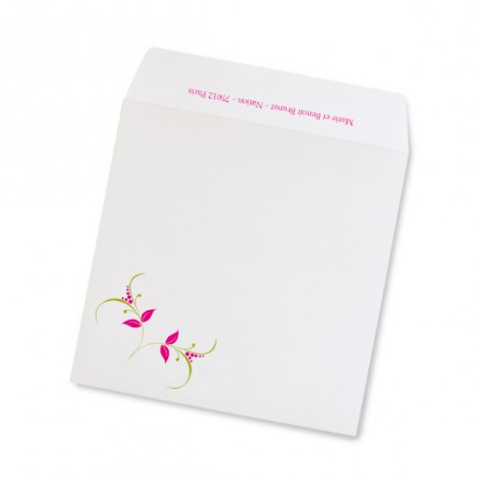 Birth announcement envelope carré