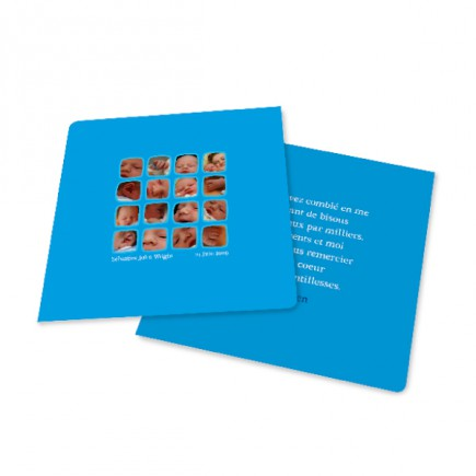 Birth thank you card squares
