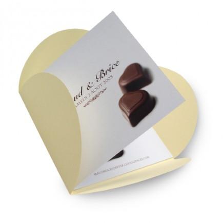 Wedding invitation chocolate BF