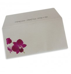 Wedding envelope orchid wrap