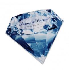 Wedding invitation precious stones