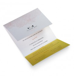 Wedding invitation flori