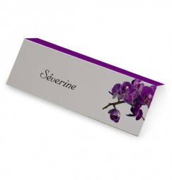 Place card purple orchid wrap