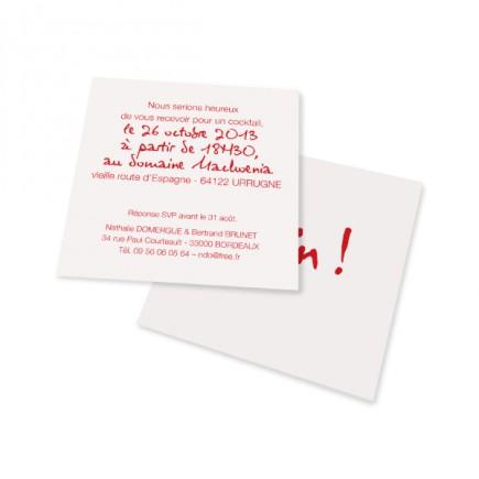 Carton d'invitation enfin