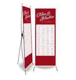 Plan de table mariage rouge