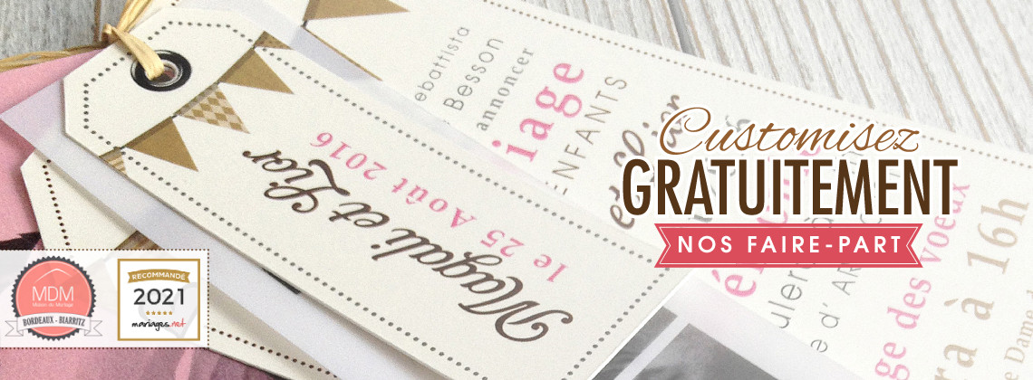 customise our invitations